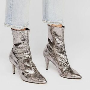 NIB Free People Willa Leather Ankle Boots